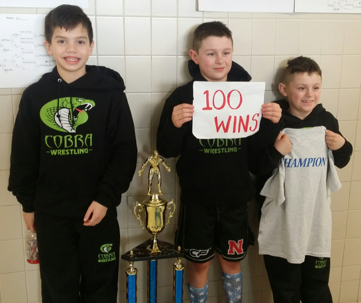 Gage LaPlante (Cobra) Gets his 100th win at the 17th Annual Panama Youth Wrestling Tournament