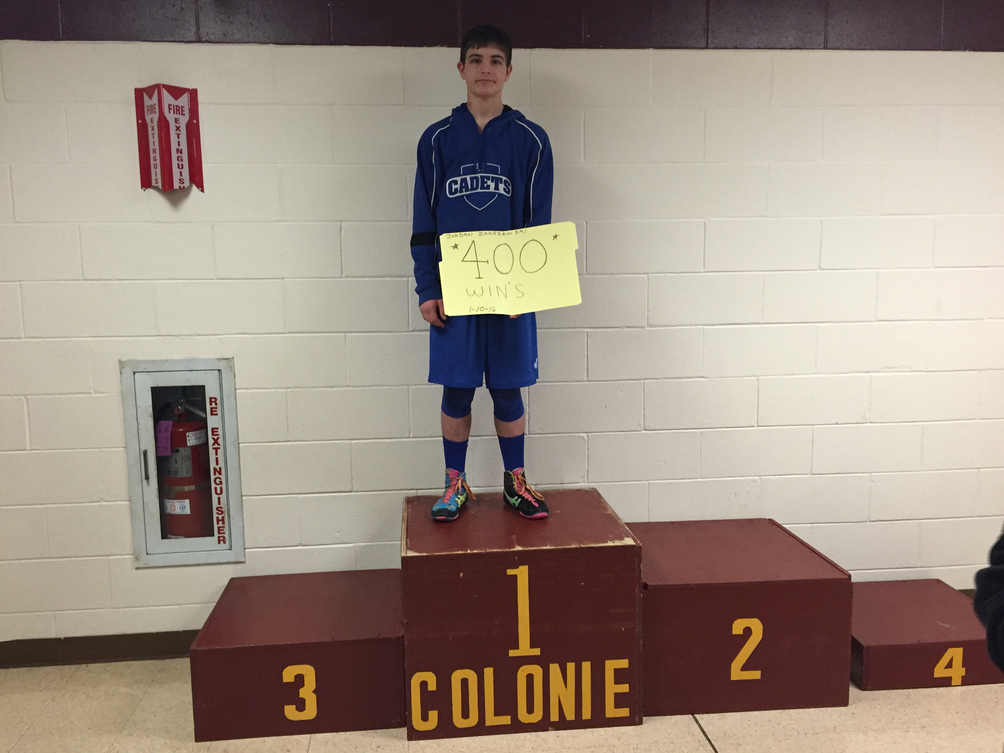 Jordan Zakrzewski (LaSalle Institute) Gets his 400th win at the Colonie Wrestling Tournament
