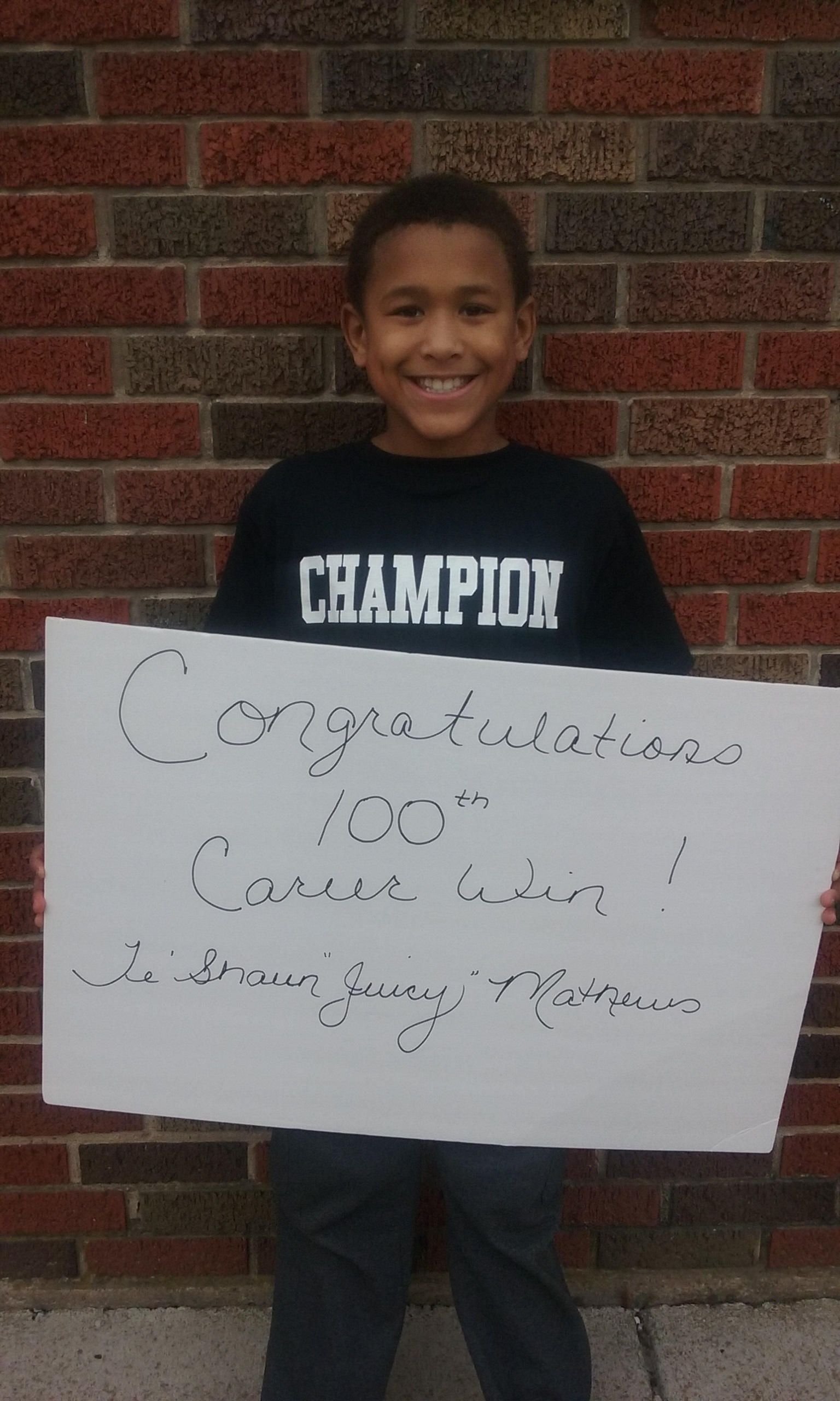 Te'Shaun Mathews (NWAA) Gets his 100th win at the Lancaster Youth Wrestling Tournament