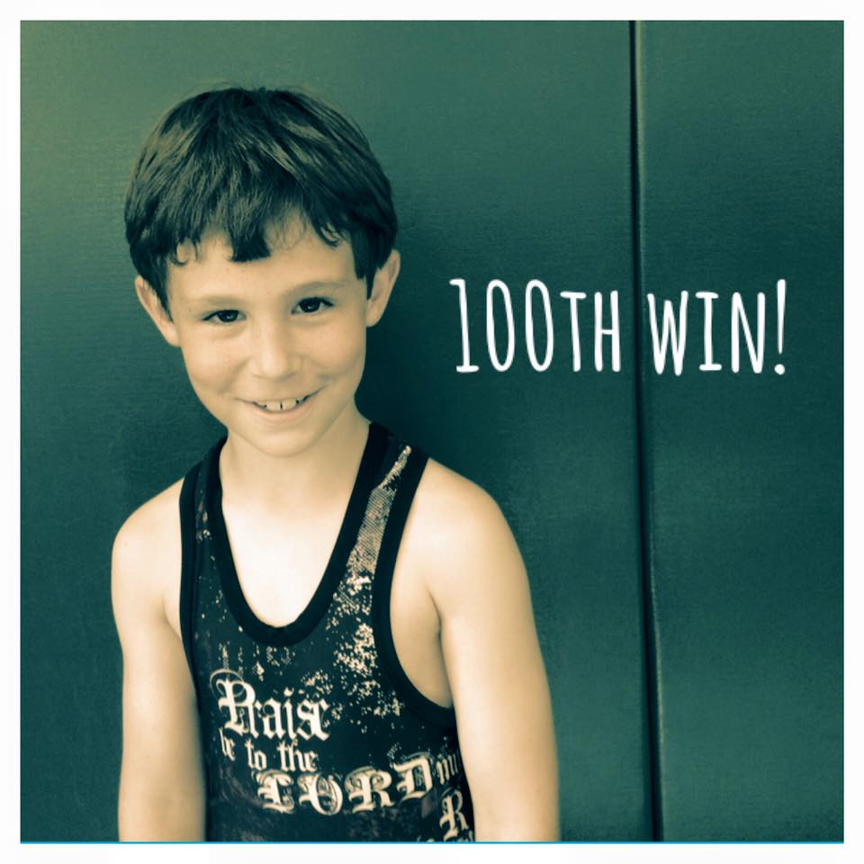 Waylan Winseman (Slingshot) Gets his 100th win at the Marion Youth Wrestling Tournament
